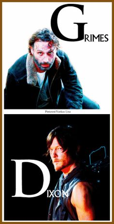Rick Grimes - Andrew Lincoln and Daryl Dixon - Norman Reedus - AMC's The Walking Dead