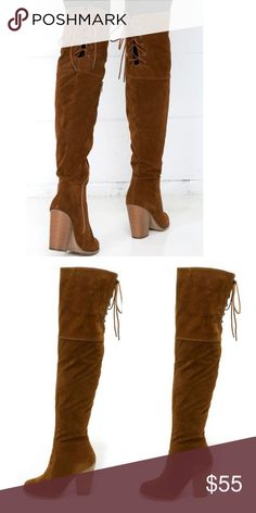 Over The Knee Boots New! Runs slightly small so size up half a size of necessary. Shoes Heeled Boots