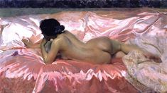 laniferous-e: Nude Woman, Joaquin Sorolla y Bastida (1863-1923), 1902. (Private Collection) Via.