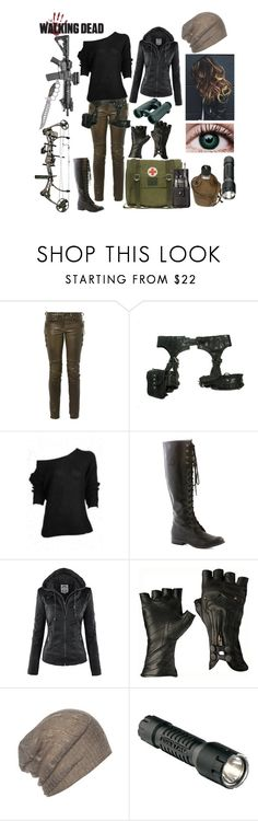 """""""The Walking Dead OC"""" by daughter-of-darkness ❤ liked on Polyvore featuring Isabel Marant, Skingraft, Reclaimed Vintage, AllSaints, Streamlight, Swarovski and Universal"""
