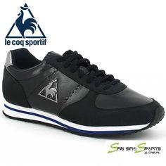 74152782fe62 Le Coq Sportif Bolivar Syn 1410802 Retro Running Black Casual Trainers