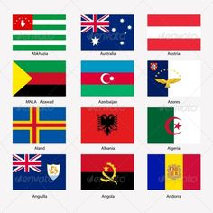 Flags of World Sovereign States Set