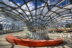 Melbourne Webb Bridge designed by Denton Corker Marshall