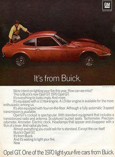 1970 Buick Opel GT Advertising Newsweek December 1969