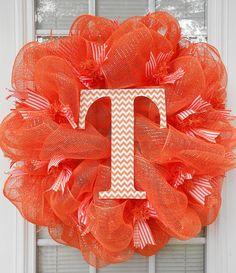 Go Big Orange Deco Mesh Wreath/Tennessee Volunteers