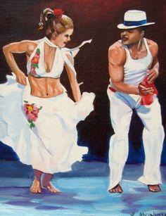 Salsa Dancing , This is the feeling of la Tambora.