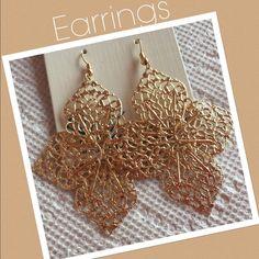 SALE🔥💞Flower like Earrings💞 💞Gold color Earrings 💕 Hypo-allergenic. Jewelry Earrings