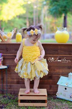 Fabric Tutu LEMONADE STAND Shabby Chic Tutu Baby by ChicSomethings