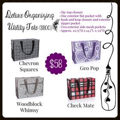 CA Deluxe Organizing Utility Tote, Thirty-One, fall 2017 Thirty One Fall, Thirty One Totes, Thirty One Party, Thirty One Gifts, Thirty One Organization, Organizing Utility Tote, Tote Organization, 31 Party, Thirty One Business