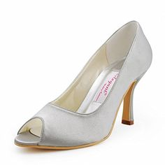 Elegantpark EP11017 Silver Women's Wedding Peep Toe High Heel Pumps Satin Bridal Shoes US 8 Elegantpark http://www.amazon.com/dp/B00AZXWL6S/ref=cm_sw_r_pi_dp_FNt5ub0BG2MKY