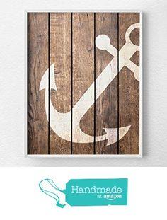 Nautical Anchor Art, Anchor Decor, Nautical Bathroom, Rustic Nautical Print, Anchor Print, Nautical Decor, Nautical Nursery, Beach Art from Lotus Leaf Creations http://www.amazon.com/dp/B016H5J444/ref=hnd_sw_r_pi_dp_nbqMwb1XPQPPW #handmadeatamazon
