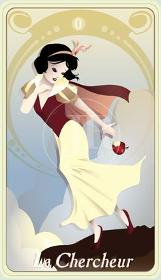 {The Princess Tarot} 'La Chercheur: Snow White' by suisei-ojii-sama.deviantart.com on @DeviantArt