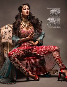 Bridal churidar by Payal Singhal
