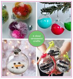 Spend an afternoon making a clever Christmas ornament from a clear glass ball for holiday gifts. It will have a lot of years of love for its future! #ParentsMagazine #ParentsGifts