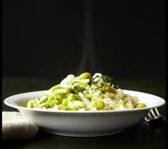Here's an idea for dinner tonight: risotto with vegetables.