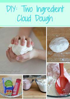 Clouds for Kids 23 Smart Ideas Two Ingredient Cloud Dough Teach Junkie