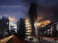 2014 eVolo Skyscraper Competition Winners | First Place. Vernacular Versatility. Yong Ju Lee (United States) | Bustler