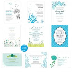 Caribbean blue wedding invitations as low as $1.04