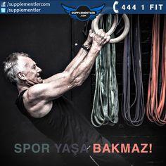 Yaşınız spor yapmaya engel değildir. Sağlık için düzenli spordan asla vazgeçmeyin. #fitness #motivasyon
