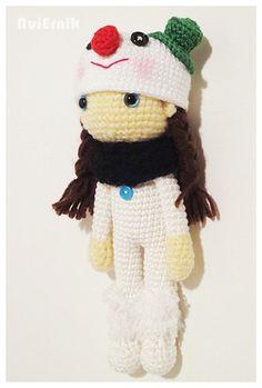 Amigurumi Crochet Pattern Snow Girl PDF file by NuiErnik on Etsy, $6.25