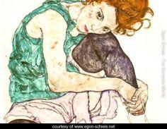 Sitting Woman with Legs Drawn Up, Egon Schiele