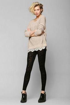 Reverse Burnout Velvet Legging #urbanoutfitters