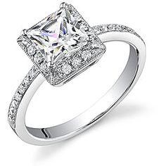 18k Gold 1 1/5ct TDW Diamond Halo Engagement Ring (I, I1)
