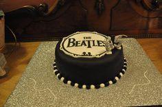 Tortas, cumpleaños, más de 40, Beatles, Birthday, Cakes, +40, black and white, blanco y negro.