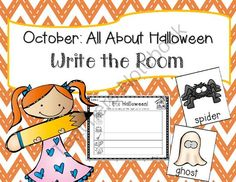 October: Halloween Write the Room + 2 bonus activites from TheKinderLife on TeachersNotebook.com -  (11 pages)  - This pack contains writing and reading activities perfect for OCTOBER!