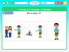 Listening Power Preschool HD by Hamaguchi Apps ($19.99) for children at a language age of 3 ½ through 6 or any child learning English. Designed for children with weak language comprehension, poor auditory memory, AD/HD, autism and language impairment.