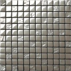Smooth and Textured Silver Glass Mosaic Tiles Bathroom Shower Kitchen. Open up your bathroom or kitchen with the feeling of freshness and fluidity.