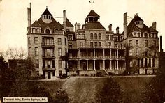 The Crescent Hotel in Eureka Springs Arkansas. Used to be me and hubby's weekend get-away when we lived in Tulsa. This hotel is so cool. It's very old and supposed to be haunted. The entire town is really cool.