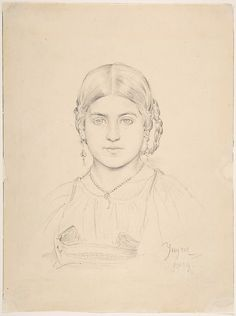 Bust of a Gypsy Girl Ascribed to Jean-Auguste-Dominique Ingres (French, Montauban 1780–1867 Paris)