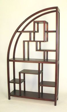 Bookshelf divider, love the curves and shapes, even looks great without anything within