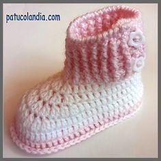 Botas con botones de ganchillo, para bebés hechas a mano, 60% Lana 40% Acrílico Dralón.Hipoalergénico. Otoño-Invierno Baby Sense, Flip Flop Slippers, Slipper Boots, Baby Knitting Patterns, Baby Booties, Crochet Baby, Crochet Projects, Booty, Hats
