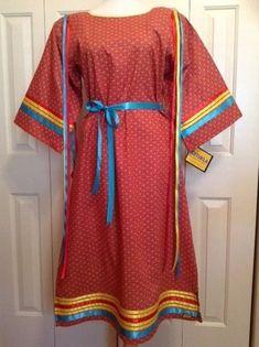 NATIVE AMERICAN REGALIA*NAKODA MADE TRADITIONAL LADIES RIBBON  DRESS  10-12