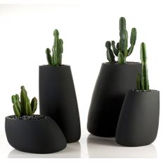 Flowerpot made of double wall polyethylene resin shell and matte or lacquered finishing. www.mondocollection.com - Stones Planter, Call for Pricing (http://www.mondocollection.com/stones-planter/)