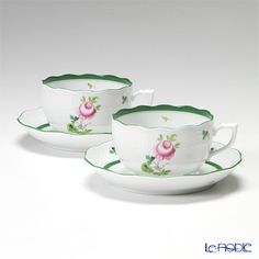 Herend Vienna Rose Tea cup and saucer 200cc pair