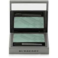 Burberry Beauty Wet & Dry Silk Eye Shadow - Aqua Green No.309 ($26) ❤ liked on Polyvore featuring beauty products, makeup, eye makeup, eyeshadow, beauty, cosmetics, filler, green, burberry eyeshadow and burberry