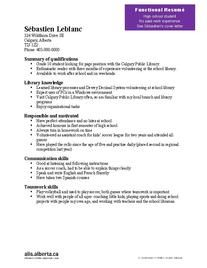 Horticulture how to include subjects learned in college on a resume