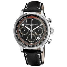 Baume & Mercier Men's 10001 Capeland Chronograph Black Chronograph Dial Watch - List price: $4,350.00 Price: $3,450.00 Saving: $900.00 (21%)