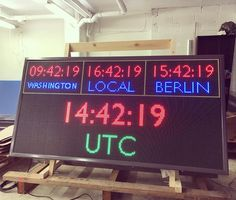Get yourself the clock. For outdoor use. Besf for mission critical use. Will be synchronised to your NTP time server. Different visual configurations availible. Will be custom made just for you. This one is with size 1x2m. Price is 17400. contact for purchase gen@ampron.eu #click #time #military #nato #ops #development #estonia #hardware #software #LED #display