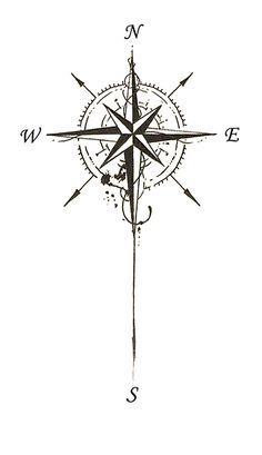175 Compass Tattoos Designs with Deep Meanings - TattooSet