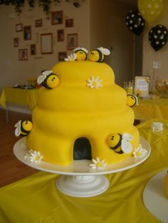 Beehive cake Lots of bee cakes & party items on this board.