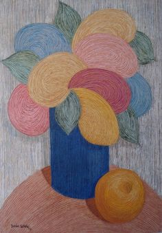 Jaime Durán Castaño: Vase of Flowers -  Listed Colombian Artist - 25% discount on gallery price - for sale now on eBay.