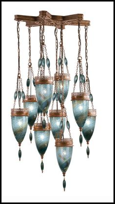 #Morrocan glass chandelier - #Lighting #Light Fixture