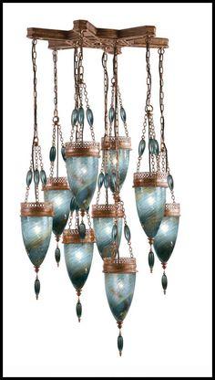#Morrocan glass chandelier - #Lighting #Light Fixture
