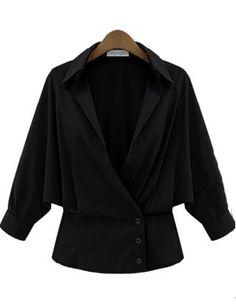Shop Black Lapel Batwing Sleeve Buttons Crop Coat online. Sheinside offers Black Lapel Batwing Sleeve Buttons Crop Coat & more to fit your fashionable needs. Free Shipping Worldwide!