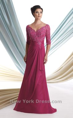 Bedazzle any crowd in this refined full-length gown from Mon Cheri 113925 Montage. The scalloped neckline touches the tip of your shoulders and extends into