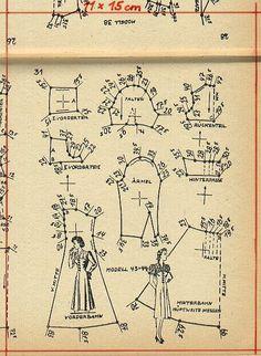 1940s dress pattern draft 2